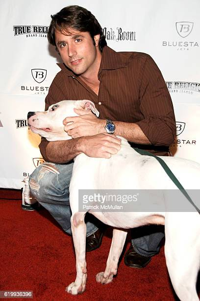 Lorenzo Borghese and Petey the Dog attend The Young Friends of the ASPCA Presents The Shaggy Dog at The IAC Building on October 16 2008 in New York...