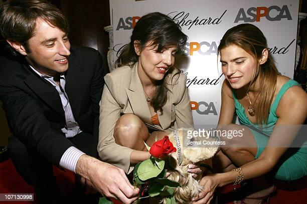 Lorenzo Borghese Catherine Bove GM of Chopard's New York and Lake Bell with Ruppert winner of the ASPCA Ball competition