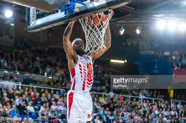 Lorenzo Brown during the match between FC Barcelona and Red Star Basketball Club, corresponding to the week 21 of the Euroleague, played at the Palau...