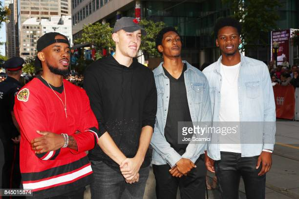 Lorenzo Brown Kyle Wiltjer Delon Wright and Alfonzo McKinnie attend 'The Carter Effect' premiere during the 2017 Toronto International Film Festival...