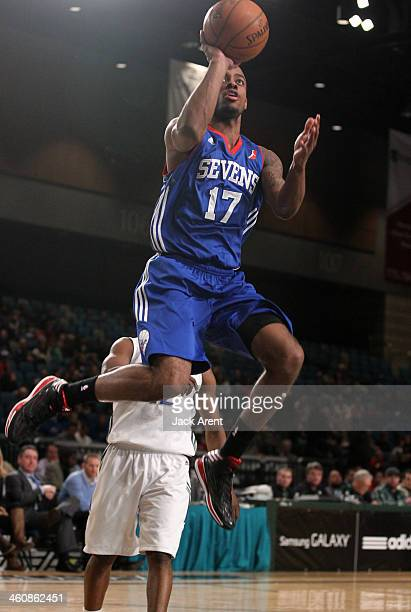 Lorenzo Brown of the Delaware 87ers shoots the ball against the Reno Bighorns during the 2014 NBA DLeague Showcase presented by Samsung Galaxy on...