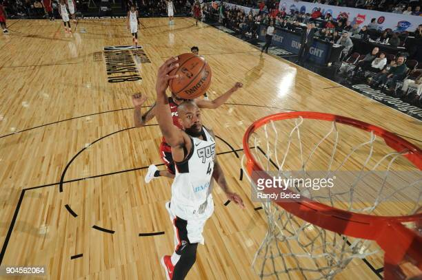 Lorenzo Brown of the Raptors 905 drives to the basket during the NBA GLeague Showcase Game 22 between the Sioux Falls Skyforce and the Raptors 905 on...