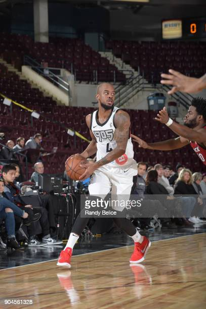 Lorenzo Brown of the Raptors 905 handles the ball during the NBA GLeague Showcase Game 22 between the Sioux Falls Skyforce and the Raptors 905 on...