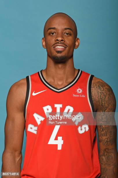 Lorenzo Brown of the Toronto Raptors poses for a head shot during Media Day on September 25 2017 at the BioSteel Centre in Toronto Ontario Canada...