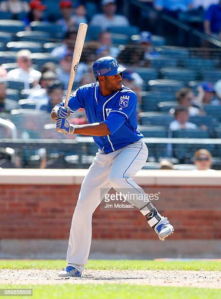 Lorenzo Cain of the Kansas City Royals in action against the New York Mets at Citi Field on June 22 2016 in the Flushing neighborhood of the Queens...