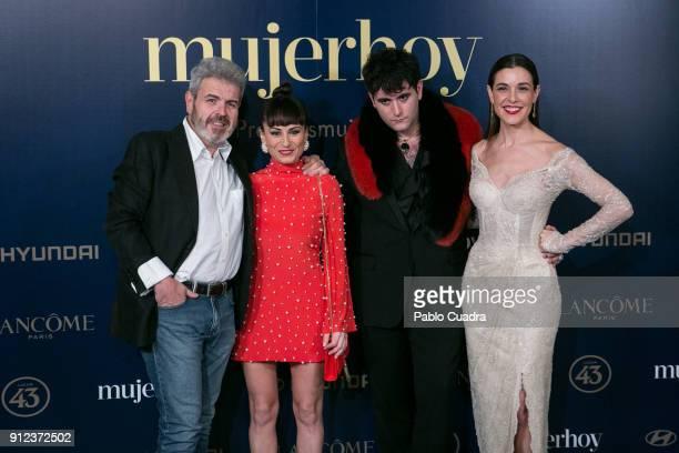 Lorenzo Caprile Maria Escote Palomo Spain and Raquel Sanchez Silva attend the 'Mujer hoy awards at 'Casino de Madrid' on January 30 2018 in Madrid...