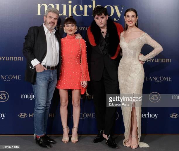Lorenzo Caprile Maria Escote Palomo Spain and Raquel Sanchez Silva attend 'VII Premios Mujer Hoy' at Casino on January 30 2018 in Madrid Spain