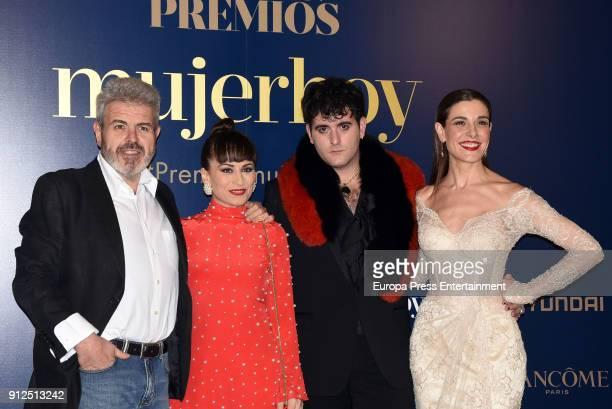 Lorenzo Caprile Maria Escote Palomo Spain and Raquel Sanchez Silva attends 'VII Premios Mujer Hoy' at Casino on January 30 2018 in Madrid Spain