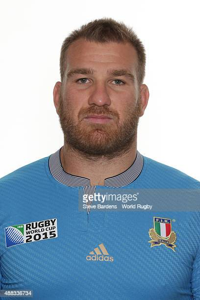 Lorenzo Cittadini of Italy poses during the Italy Rugby World Cup 2015 squad photo call at the Radisson Blu on September 15 2015 in Guildford England
