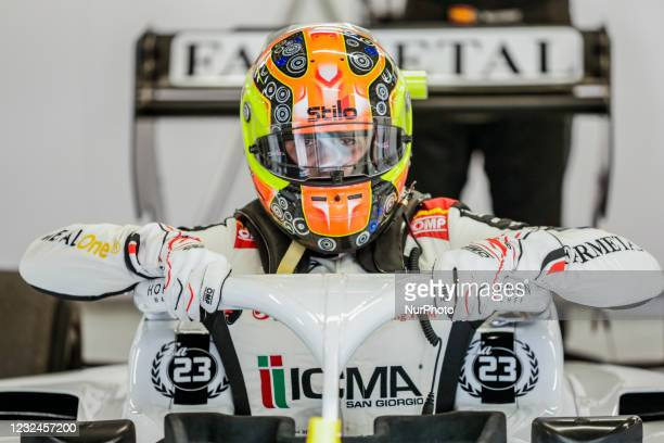 Lorenzo Colombo from Italy of Campos Racing, portrait during Day Two of Formula 3 Testing at Circuit de Barcelona - Catalunya on April 21, 2021 in...
