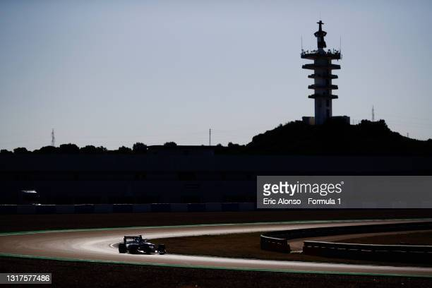 Lorenzo Colombo of Italy and Campos Racing drives at Circuito de Jerez on May 12, 2021 in Jerez de la Frontera, Spain.