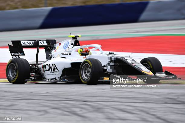 Lorenzo Colombo of Italy and Campos Racing drives during Day Two of Formula 3 Testing at Red Bull Ring on April 04, 2021 in Spielberg, Austria.
