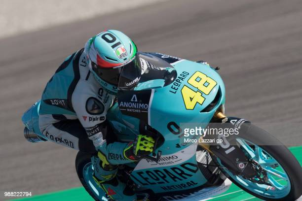 Lorenzo Dalla Porta of Italy and Leopard Racing heads down a straight during the Qualifying practice during the MotoGP Netherlands Qualifying on June...