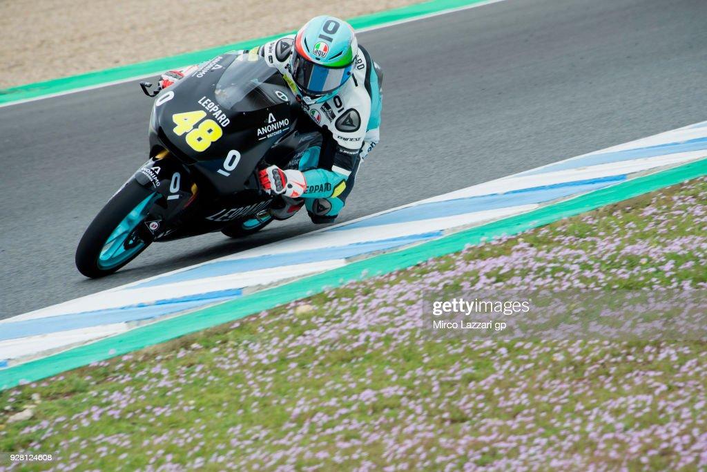 Lorenzo Dalla Porta of Italy and Leopard Racing rounds the bend during the Moto2 & Moto3 Tests In Jerez at Circuito de Jerez on March 6, 2018 in Jerez de la Frontera, Spain.