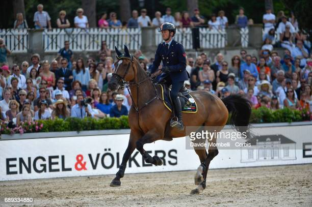 Lorenzo de Luca of Italy riding Ensor de Litrange Lxii during the FEI Nations Cup Piazza di Siena on May 26 2017 in Villa Borghese Rome Italy