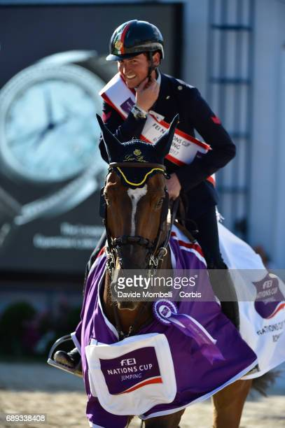 Lorenzo de Luca of Italy riding Ensor de Litrange Lxii wins the FEI Nations Cup Piazza di Siena on May 26 2017 in Villa Borghese Rome Italy