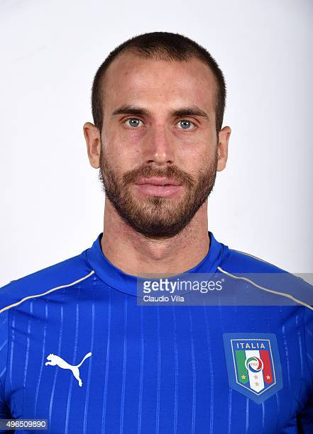 Lorenzo De Silvestri of Italy poses during the official portrait session at Coverciano on November 10 2015 in Florence Italy