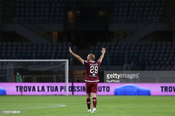 Lorenzo De Silvestri of Torino FC during the closeddoors match between Torino FC and Brescia Calcio at Olympic Grande Torino Stadium on July 08 2020...