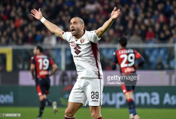 Lorenzo De Silvestri of Torino FC reacts during the Serie A match between Genoa CFC and Torino FC at Stadio Luigi Ferraris on November 30 2019 in...