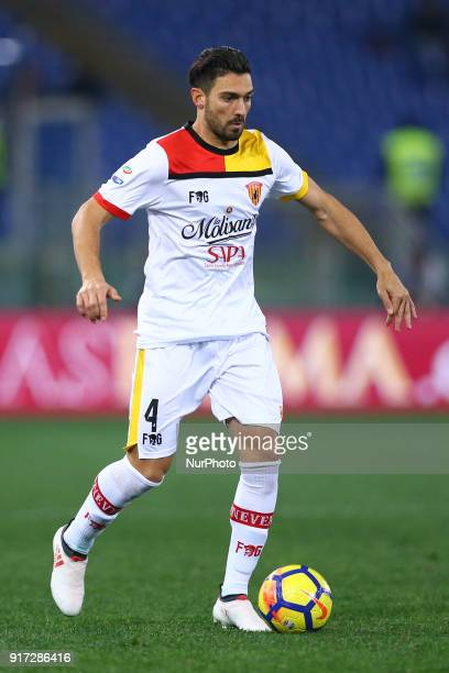 Lorenzo Del Pinto of Benevento during the serie A match between AS Roma and Benevento Calcio at Stadio Olimpico on February 11 2018 in Rome Italy