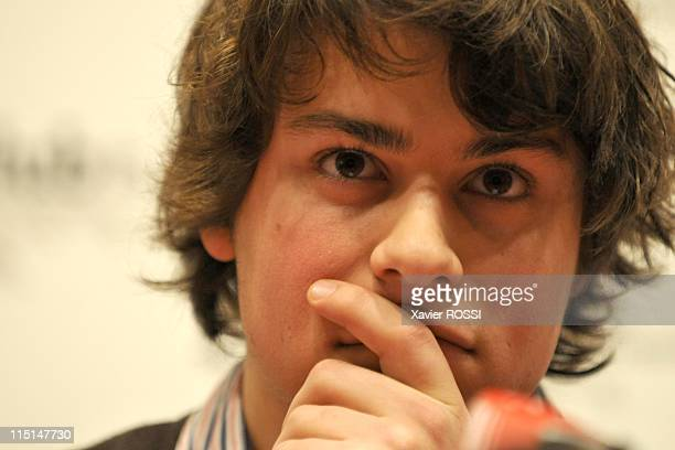 Lorenzo Delloye Betancourt at a news conference in Paris, France on April 02, 2008.