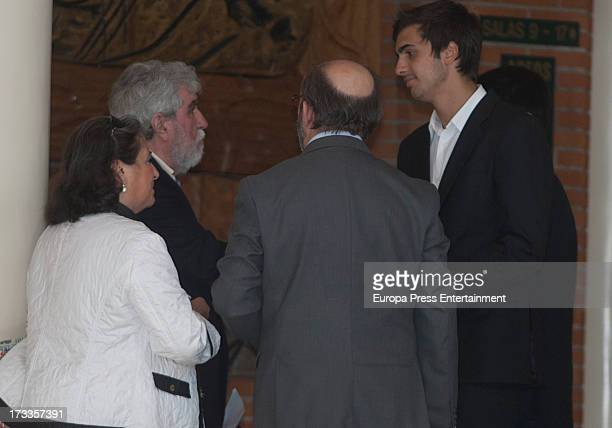 Lorenzo Diaz and Lorenzo Diaz attend the funeral chapel for the journalist Concha Garcia Campoy at La Paz Morgue on July 12, 2013 in Madrid, Spain.