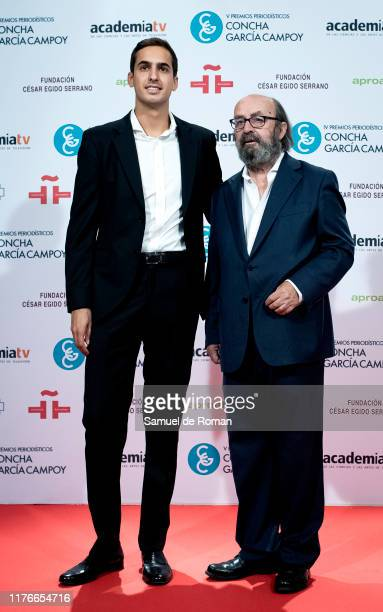 Lorenzo Diaz and Lorenzo Diaz Campoy attend during scientific journalist award 'Concha Garcia Campoy' In Madrid on September 23, 2019 in Madrid,...