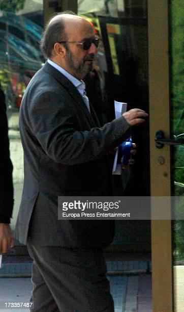 Lorenzo Diaz attends the funeral chapel for the journalist Concha Garcia Campoy at La Paz Morgue on July 12, 2013 in Madrid, Spain.
