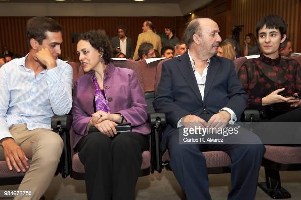 Lorenzo Diaz Garcia, Spanish minister of labour Magdalena Valerio, Lorenzo Diaz and Berta Diaz Garcia attend the Concha Garcia Campoy awards 2018 on...