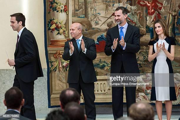Lorenzo Diaz GarciaCampoy Jose Ignacio Wert King Felipe VI of Spain and Queen Letizia of Spain attend 'National Culture Awards' 2015 on February 16...