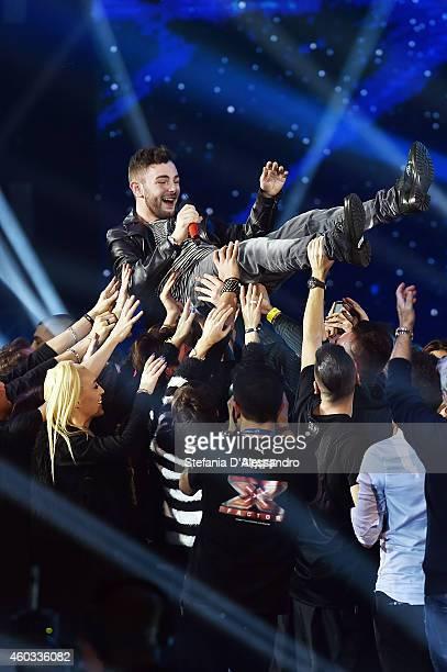 Lorenzo Fragola wins X Factor Italia on December 11 2014 in Milan Italy