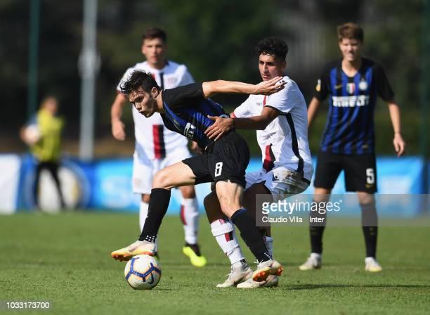 Lorenzo Gavioli of FC Internazionale in action during Fc internazionale U19 V Cagliari U19 match at Stadio Breda on September 14 2018 in Sesto San...