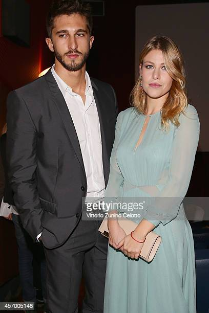 Lorenzo Guerrieri and Barbara Berlusconi attend the 'Milan Design Film Festival' photocall at Cinema Anteo on October 10 2014 in Milan Italy