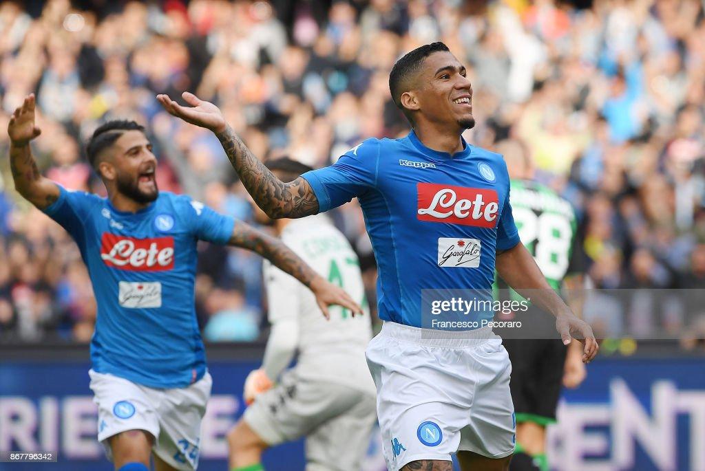 SSC Napoli v US Sassuolo - Serie A : Foto di attualità