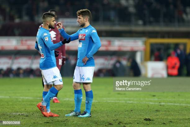 Lorenzo Insigne and Dries Mertens of Ssc Napoli in action during the Serie A football match between Torino Fc and Ssc Napoli Ssc Napoli wins 31 over...