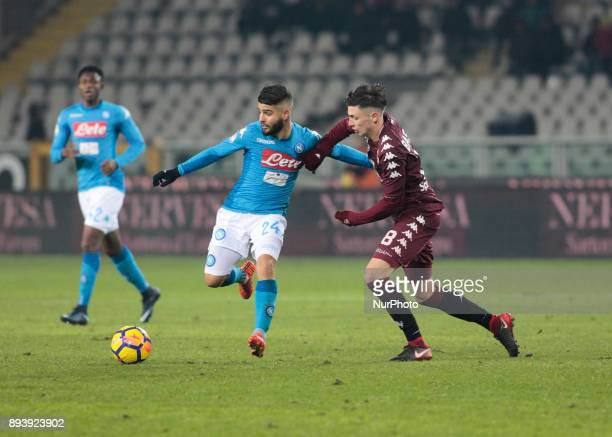 Lorenzo Insigne during Serie A match between Torino v Napoli in Turin on December 16 2017