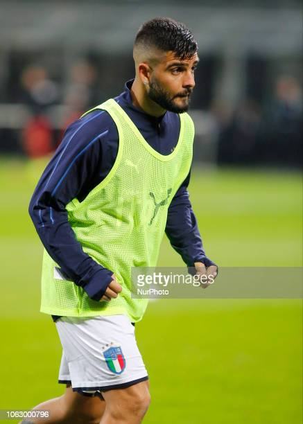 Lorenzo Insigne during the Nation League match between Italia v Portogallo in Milan Giuseppe Meazza Stadio on November 17 2018