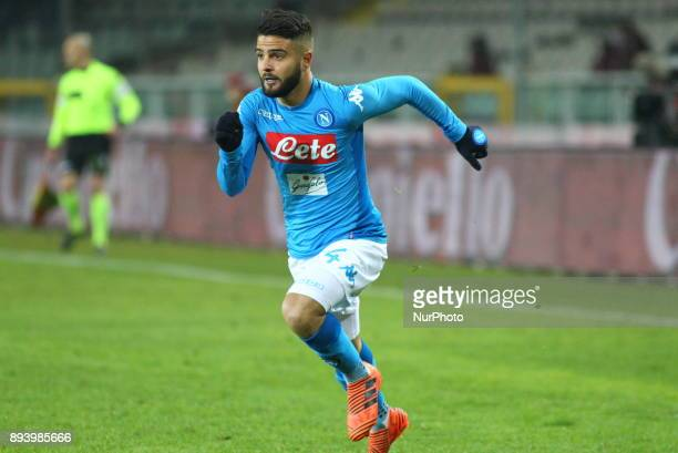 Lorenzo Insigne during the Serie A football match between Torino FC and SSC Napoli at Olympic Grande Torino Stadium on 16 December 2017 in Turin...