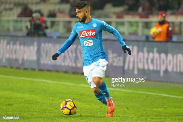 Lorenzo Insigne in action during the Serie A football match between Torino FC and SSC Napoli at Olympic Grande Torino Stadium on 16 December 2017 in...