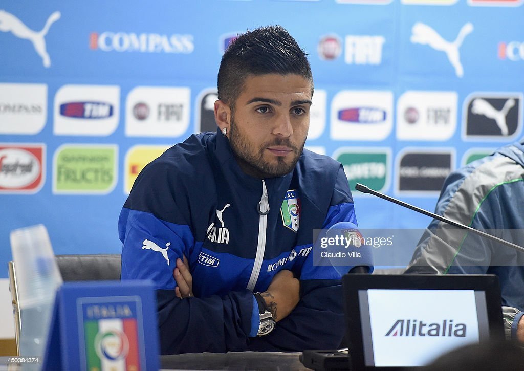 Lorenzo Insigne of Italy during press conference on June 10, 2014 in Rio de Janeiro, Brazil.