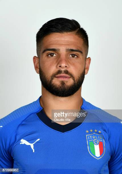 Lorenzo Insigne of Italy poses during the official portrait session at Coverciano on November 6 2017 in Florence Italy