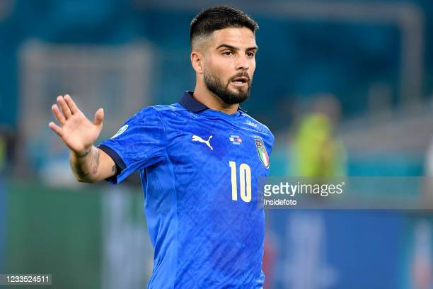 Lorenzo Insigne of Italy reacts during the Uefa Euro 2020 Group A football match between Italy and Switzerland. Italy won 3-0 over Switzerland.