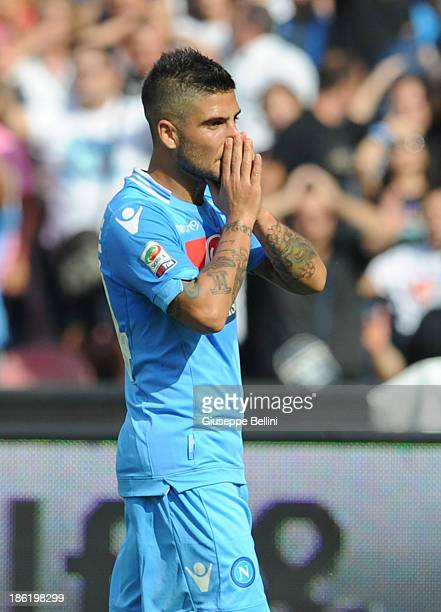 Lorenzo Insigne of Napoli during the Serie A match between SSC Napoli and Torino FC at Stadio San Paolo on October 27 2013 in Naples Italy