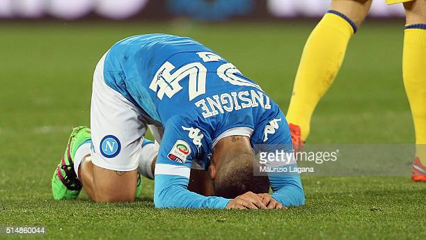Lorenzo Insigne of Napoli during the Serie A match between SSC Napoli and AC Chievo Verona at Stadio San Paolo on March 5 2016 in Naples Italy