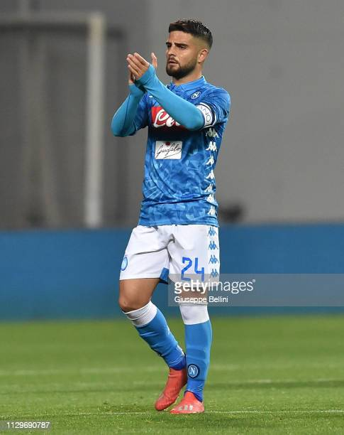 Lorenzo Insigne of SSC Napoli after the Serie A match between US Sassuolo and SSC Napoli at Mapei Stadium Citta' del Tricolore on March 10 2019 in...