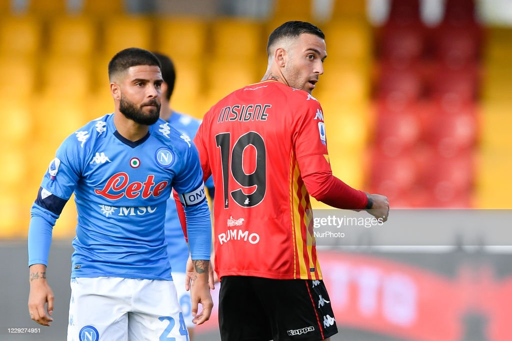 Lorenzo Insigne of SSC Napoli and his brother Roberto Insigne of ...
