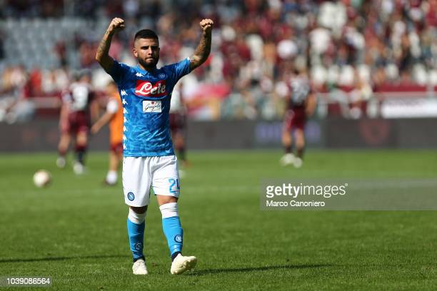 Lorenzo Insigne of Ssc Napoli celebrate at the end of the Serie A football match between Torino Fc and Ssc Napoli