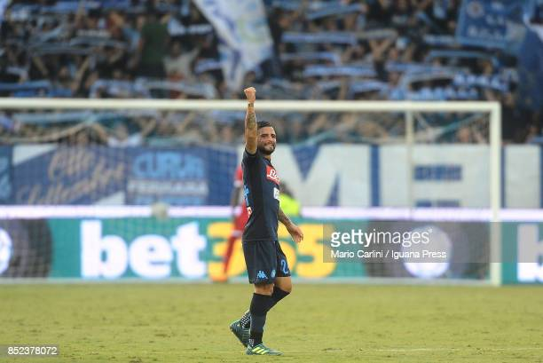 Lorenzo Insigne of SSC Napoli celebrates after scoring a goal during the Serie A match between Spal and SSC Napoli at Stadio Paolo Mazza on September...
