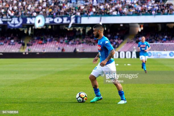 Lorenzo Insigne of SSC Napoli during Serie A match between SSC Napoli and Chievo Verona at Stadio San Paolo of Naples Final score SSC Napoli Chievo...