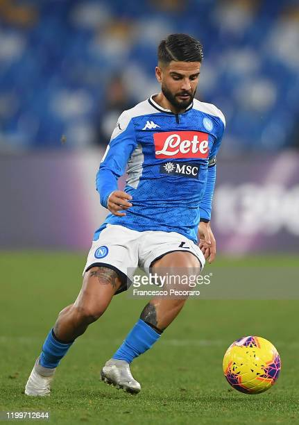 Lorenzo Insigne of SSC Napoli during the Coppa Italia match between SSC Napoli and Perugia on January 14 2020 in Naples Italy